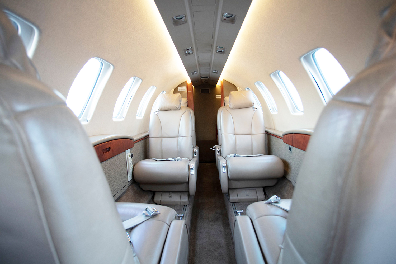 Citation CJ2 main cabin interior - BTR Air Charter